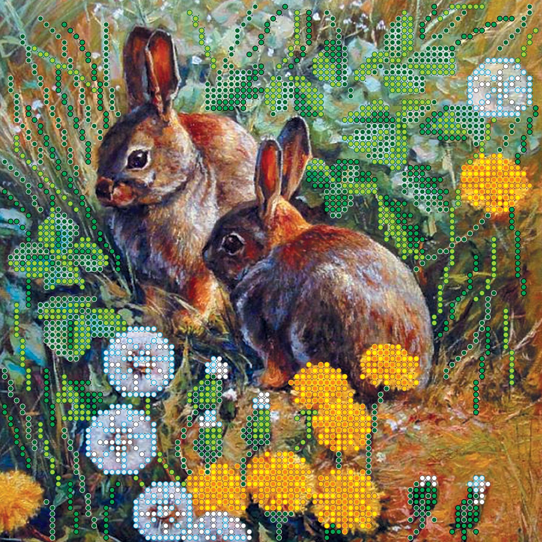 картина с зайцами дню